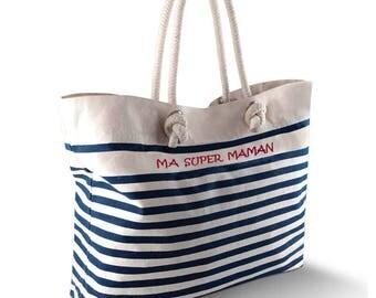 Sailor shirt personalized beach bag