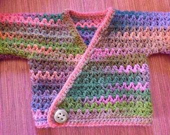 Bra wrap-crocheted 53% Virgin wool