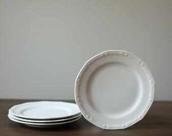 Vintage White Tea Saucers (set of 4)