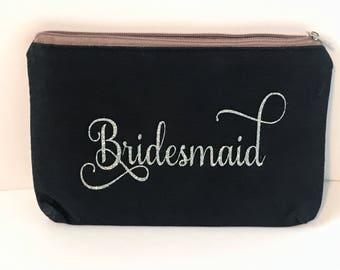 Bridesmaid clutch purse - bride clutch purse - bridal party gift ~ custom personalized purse