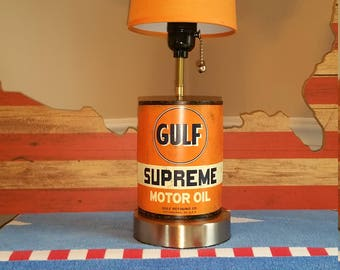 1/2 oil can lamp