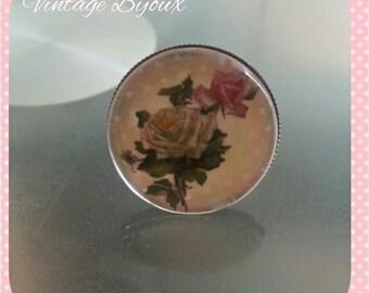 silver plated ring adjustable retro, vintage