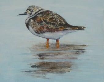 edge of the sea necklace Tourne-Pierre bird original painting