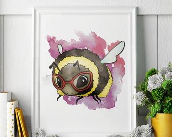 Bumblebee - Bumblebee Painting - Bumblebee Art - Bumblebee Painting - Bumblebee Print - Bumblebee Fine Art Print
