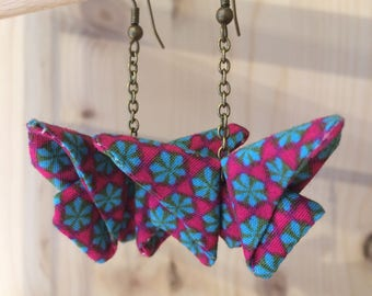 Fabric origami earrings / jewelry origami / fashion accessories