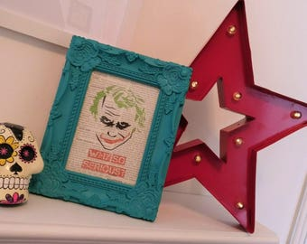 Why So Serious? - The Joker Print on Vintage Medical Dictionary Page.