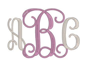 Machine Embroidery Monogram Font 5, 6, 7 Inch, Embroidery Vine Monogram Fonts, Alphabet BX, pes, exp, dst, hus, jef, vp3, vip,xxx