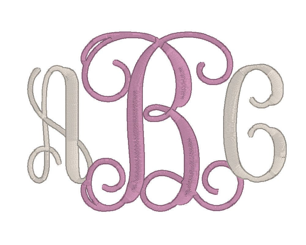machine embroidery monogram font 5 6 7 inch embroidery vine