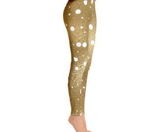 Gold Dots Leggings // Gift For Her, Planner Gift, Mother's Day Gift