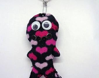 Handmade Gift Ideas Voodoo Doll Heart Keyring