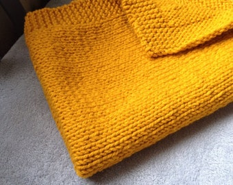 Mustard yellow baby blanket yarn to order