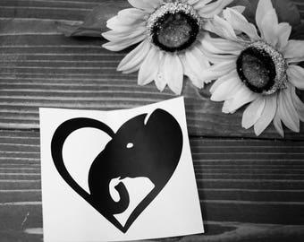 Elephant Heart Decal | Laptop Decal | Car Decal | Yeti Decal | Custom Decals | Custom Vinyls | Tumblers | Water Bottles | laptops | iPads