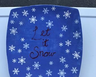 Let it snow Dinner Plate