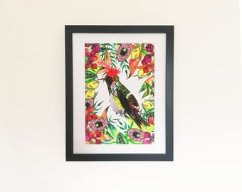 Frilled Coquette Illustration Print