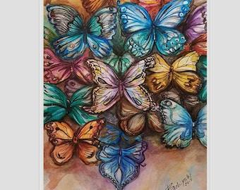 Butterflies - original watercolor painting