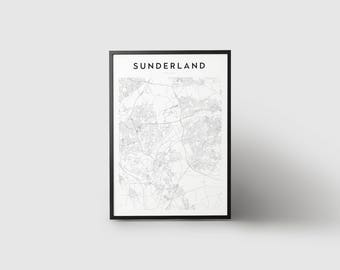 Sunderland Map Print