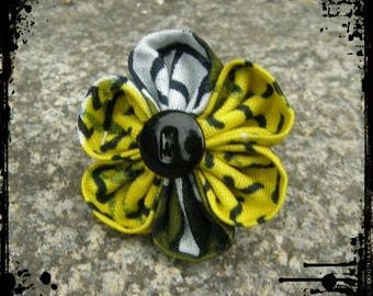 "Ring ""Sunbeam"" wax kanzashi flower"