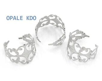 Silver color metal Adjustable ring