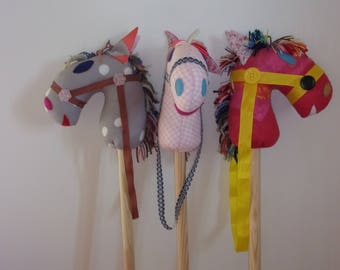 horse toy wooden handle