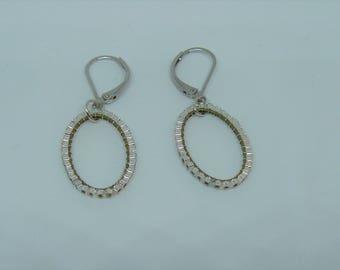 Silver miyuki beads earrings