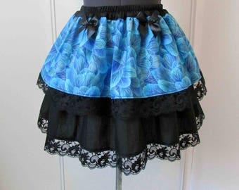 Skirt light blue feathers