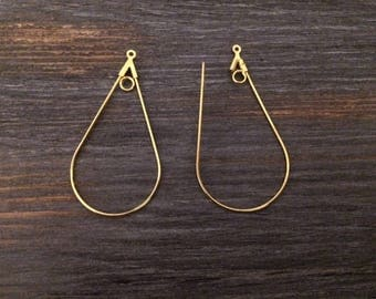 10 earrings drops 43x22mm Golden jewellery designs