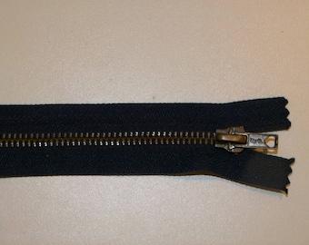 Navy Blue zipper iron not separable 18 cm