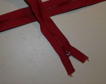 brick red zipper iron not separable 50 cm