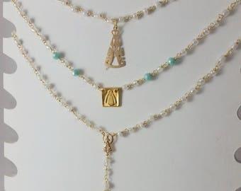 Entorchado with stones necklace