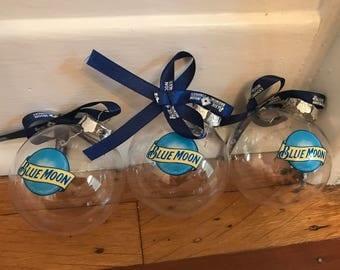 Blue Moon Beer Ornaments