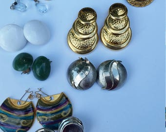 Earring lot - includes pierced and clip