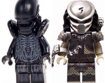 Alien Vs Predator LEGO Inspired