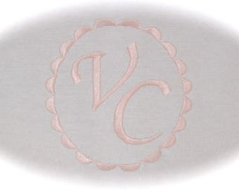 ADDITIONAL embroidery name or initials framed