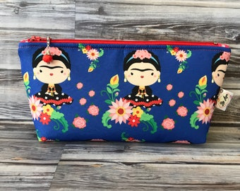 Cute Frida Kahlo Blue bag