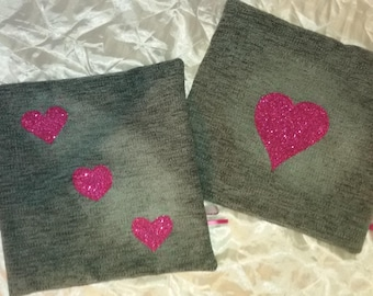pink heart Cushion cover