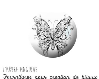 EPOXY resin 25 MM Cabochon paste Butterfly N1175