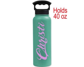 Personalized  Extra Large (40 oz)  Double-Wall Vacuum Insulated Water Bottle