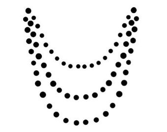 Applique necklace flex or flock Thermo - color choice