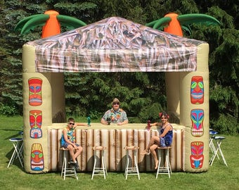 Inflatable Tiki Bar 2 Palms