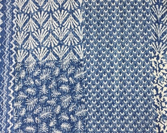 Kantha Throw - The Patch - Blue