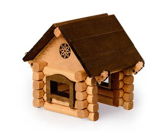 wooden toys house