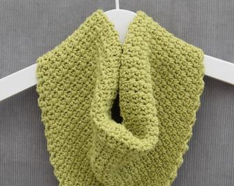 Green baby/toddler bandana style scarf