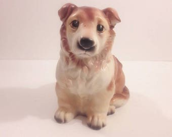 1950's Napcoware Dog Planter Border Collie/Corgi
