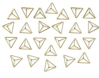Brass Himmeli Decor, 5 Modern Minimalist Himmeli Mobile, Geometric Ornament, Air Plant Holder