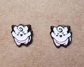 Clefairy Pokemon Stud Earrings