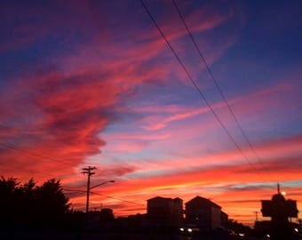Pastel sunset photography print