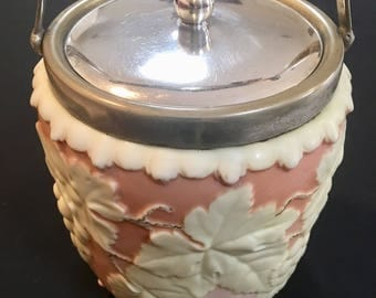 C1895 Antique Victorian Locke Worcester Biscuit Barrel
