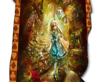 ALICE IN WONDERLAND Fleece Blanket / Throw / Tapestry