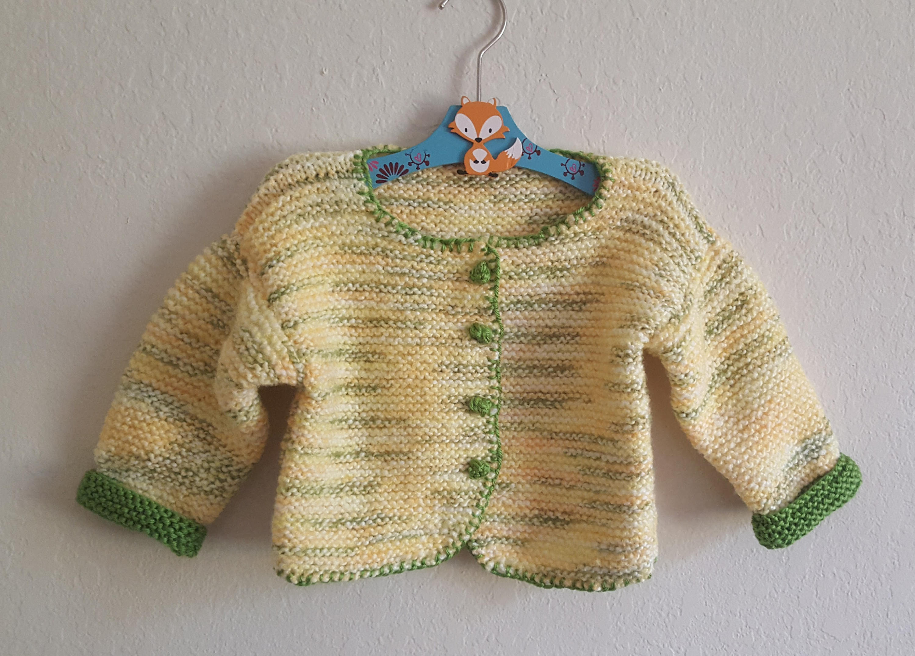 Toddler-Yellow-Green Sweater and Cap