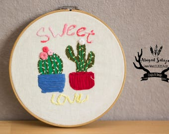 Embroidered Sweet Love